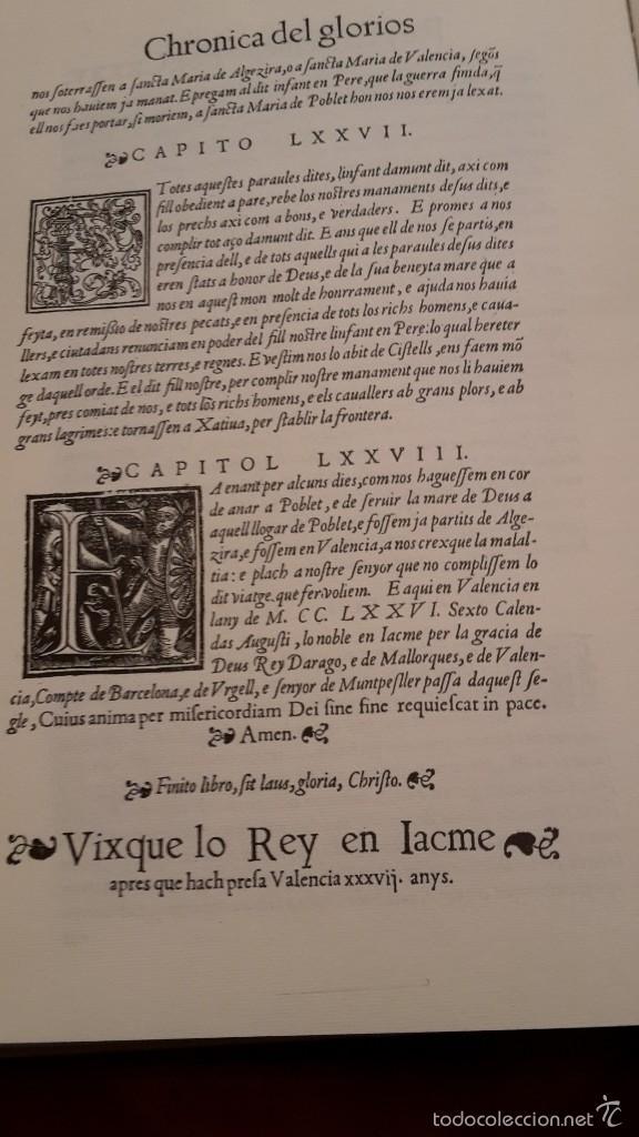 Libros de segunda mano: CHRONICA, O COMMENTARI DEL GLORIOFIFFIM, REY EN JACME.FACSIMIL1994 ALGEMESI. - Foto 5 - 56119687