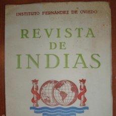 Libros de segunda mano: REVISTA DE INDIAS. AÑO 1957. SUMARIO FOTOGRAFIADO.. Lote 57120565