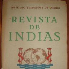 Libros de segunda mano: REVISTA DE INDIAS. AÑO 1952. SUMARIO FOTOGRAFIADO.. Lote 57120672