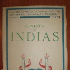 Libros de segunda mano: REVISTA DE INDIAS. AÑO 1951. SUMARIO FOTOGRAFIADO.. Lote 57120685