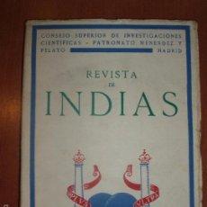Libros de segunda mano: REVISTA DE INDIAS. AÑO 1951. SUMARIO FOTOGRAFIADO.. Lote 57120703