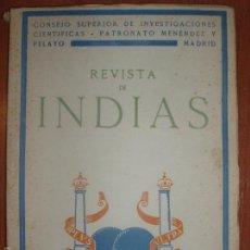 Libros de segunda mano: REVISTA DE INDIAS. AÑO 1950. SUMARIO FOTOGRAFIADO.. Lote 57120722