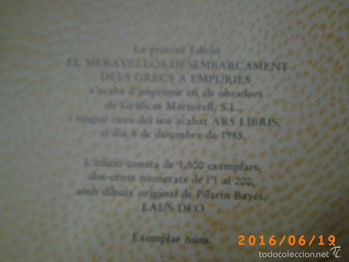 Libros de segunda mano: EL MERAVELLÓS DESEMBARCAMENT DELS GRECS A EMPÚRIES-TEXT M. BRUNET-ILLUSTRACIONS P. BAYÉS-ED. AUSA - Foto 6 - 57562905