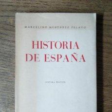 Libros de segunda mano: HISTORIA DE ESPAÑA - MARCELINO MENÉNDEZ PELAYO. Lote 58107005