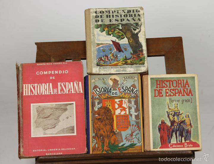 7276 - HISTORIA DE ESPAÑA. 4 EJEM. VV. AA(VER DESCRIP). VV. EDI. 1946-1947. (Libros de Segunda Mano - Historia Antigua)