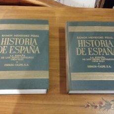 Libros de segunda mano: RAMON MÉNENDEZ PIDAL HISTORIA DE ESPAÑA LOS REYES CATOLICOS 1969 2 TOMOS. Lote 59530821
