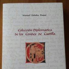 Libros de segunda mano: COLECCIÓN DIPLOMÁTICA DE LOS CONDES DE CASTILLA. MANUEL ZABALZA DUQUE. Lote 60665799