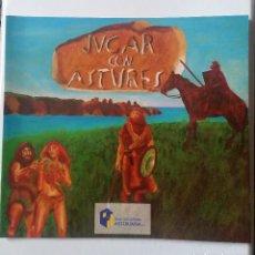 Libros de segunda mano: JUGAR CON ASTURES, INCLUYE JUEGO DE MESA EL ORO PERDIDO DE LOS ASTURES. Lote 117907830