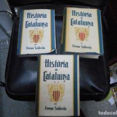 Libros de segunda mano: PRECIOSA HISTORIA DE CATALUNYA DE 1938 POR FERRAN SOLDEVILA, LO MEJOR SU ESTADO. Lote 63389308