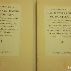 Libros de segunda mano: REAL MAESTRAZGO DE MONTESA. Lote 71600731