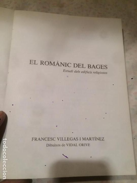 Libros de segunda mano: Antiguo libro el Romànic del Bages escrito por Francesc Villegas - Foto 2 - 73500171