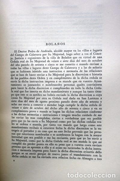 Libros de segunda mano: RELACIONES DE LOS PUEBLOS DE ESPAÑA ORDENADAS POR FELIPE II - CIUDAD REAL - Carmelo VIÑAS/ Ramón PAZ - Foto 4 - 73833303