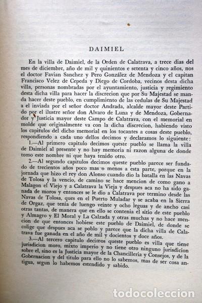 Libros de segunda mano: RELACIONES DE LOS PUEBLOS DE ESPAÑA ORDENADAS POR FELIPE II - CIUDAD REAL - Carmelo VIÑAS/ Ramón PAZ - Foto 5 - 73833303