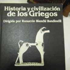 Libros de segunda mano: HISTORIA Y CIVILIZACIÓN DE LOS GRIEGOS. 1ª EDICIÓN. 3 TOMOS. BIANCHI BANDINELLI.. Lote 73993851