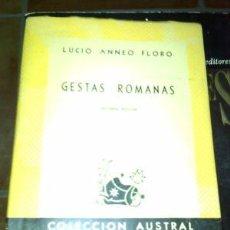 Libros de segunda mano: GESTAS ROMANAS / ESPASA CALPE / 1953 2ª EDICIÓN. COMO NUEVO. Lote 75522095