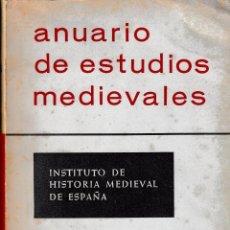 Libros de segunda mano: ANUARIO DE ESTUDIOS MEDIEVALES 7 (1970 - 1971) SIN USAR (NO SEPARATA). Lote 221505085