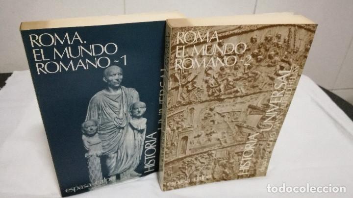 28-ROMA, EL MUNDO ROMANO, 2 TOMOS, 1985 (Libros de Segunda Mano - Historia Antigua)