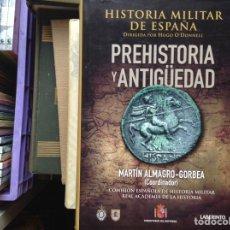 Libros de segunda mano: HISTORIA MILITAR DE ESPAÑA. PREHISTORIA Y ANTIGÜEDAD. MARTÍN ALMAGRO GORBEA. Lote 90636995