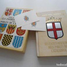Libros de segunda mano: ELS ESCUTS HERALDICS DEL POBLES DE CATALUNYA - MANUEL BASSA I ARMENGOL - MILLA 1967 - 100 EJEMPLARES. Lote 91375780