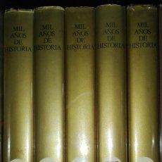 Libros de segunda mano: MIL AÑOS DE HISTORIA.PRIMERA EDICIÓN.LAS METAMORFOSIS DE LA HUMANIDAD. Lote 92450970