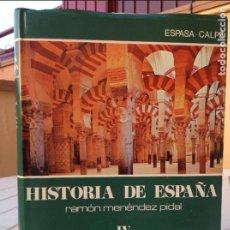 Libros de segunda mano: HISTORIA DE ESPAÑA MENÉNDEZ PIDAL T. IV ESPAÑA MUSULMANA (711-1031). Lote 93043810
