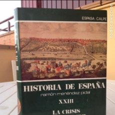 Libros de segunda mano: HISTORIA DE ESPAÑA MENÉNDEZ PIDAL TOMO XXIII: LA CRISIS DEL SIGLO XVII. LA POBLACIÓN, LA ECONOMÍA, . Lote 93961470