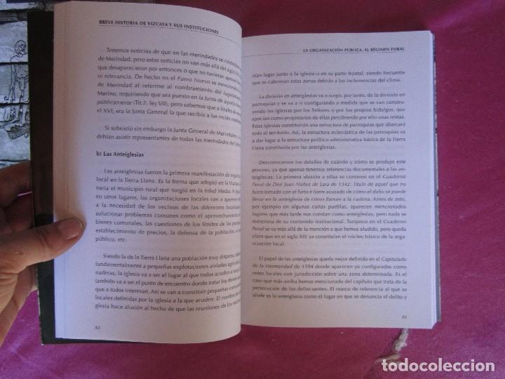 Libros de segunda mano: BREVE HISTORIA DE VIZCAYA Y SUS INSTITUCIONES ASCENSION PASTOR COMO NUEVO - Foto 4 - 94444538