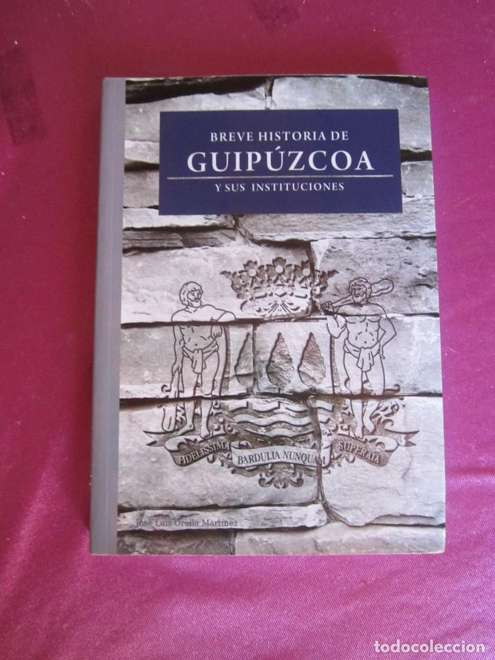 BREVE HISTORIA DE GUIPUZCOA Y SUS INSTITUCIONES JOSE LUIS ORELLA COMO NUEVO (Libros de Segunda Mano - Historia Antigua)
