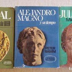 Libros de segunda mano: 3 TOMOS COLECCION SECRETOS DEL PASADO - EDITORIAL BRUGUERA - ANIBAL, ALEJANDRO MAGNO Y JULIO CESAR. Lote 96205863
