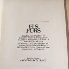 Libros de segunda mano: ELS FURS. VICENTE GARCIA EDITORES. AÑO 1978.. Lote 96305340