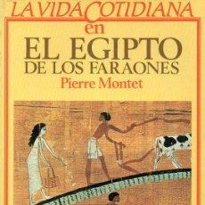 Libros de segunda mano - MONTET : LA VIDA COTIDIANA EN EL EGIPTO DE LOS FARAONES (ARGOS VERGARA, 1983) - 96735999