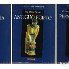 Libros de segunda mano: HISTORIA HUMANIDAD - MESOPOTAMIA, ANTIGUO EGIPTO Y PERSAS E HITITAS - VOLUMENES 3, 4 Y 5 - NUEVOS . Lote 97556415