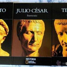 Libros de segunda mano: AUGUSTO, JULIO CESAR Y TIBERIO - 3 LIBROS DE NATIONAL GEOGRAPHIC - NUEVOS . Lote 97637743
