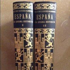 Libros de segunda mano: ESPAÑA. UN ENIGMA HISTORICO - CLAUDIO SANCHEZ - TOMO I + TOMO II (EDHASA). Lote 98681935