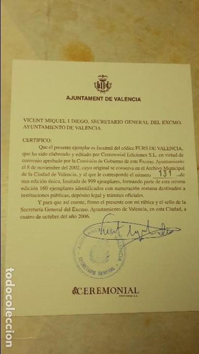 Libros de segunda mano: Els Furs de la ciutat e Regne de Valencia.(FACSIMIL) - Foto 15 - 105672706