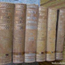 Libros de segunda mano: 6 TOMOS - MANUAL HISTORIA UNIVERSAL - POR MARTIN ALMAGRO BASCH - EDIT., ESPASA CALPE 1960 . Lote 101020731
