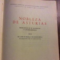Libros de segunda mano: GENEALOGÍA Y HERÁLDICA - TOMO I - NOBLEZA DE ASTURIAS- MARQUÉS DE CIANDONCHA- MADRID 1945. Lote 104099647