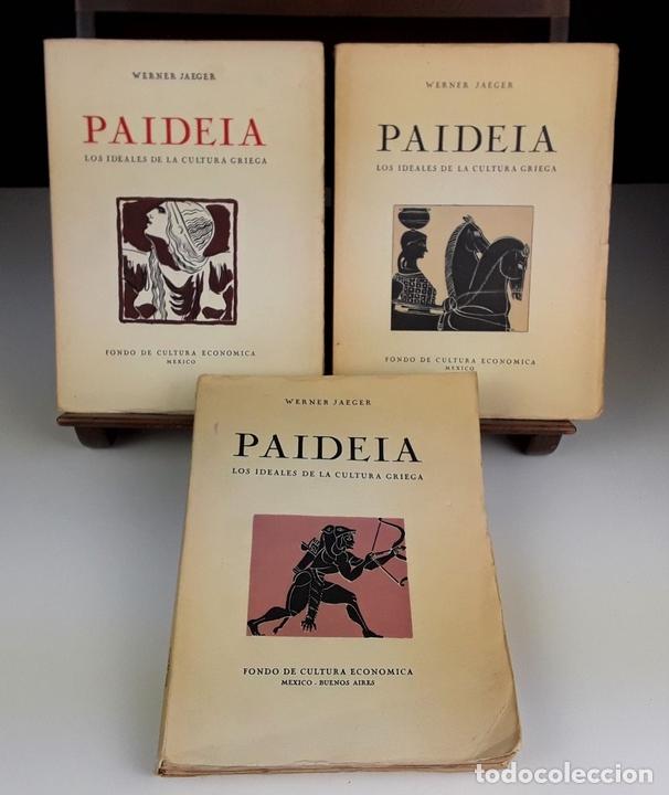Libros de segunda mano: PAIDEIA. 3 TOMOS. WERNER JAEGER. FONDO DE CULTURA ECÓNOMICA. 2º EDICIÓN. 1946. - Foto 2 - 106994175