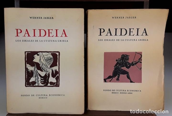 Libros de segunda mano: PAIDEIA. 3 TOMOS. WERNER JAEGER. FONDO DE CULTURA ECÓNOMICA. 2º EDICIÓN. 1946. - Foto 3 - 106994175
