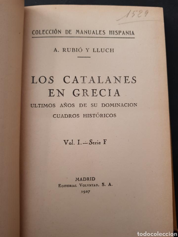 Libros de segunda mano: LOS CATALANES EN GRECIA. A. RUBIÓ Y LLUCH. EDICIÓN 1927 - tdk161 - Foto 2 - 108930483