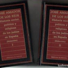 Gebrauchte Bücher - HISTORIA SOCIAL, POLITICA Y RELIGIOSA DE LOS JUDIOS EN ESPAÑA - 2 TOMOS - J.AMADOR DE LOS RIOS * - 110556787