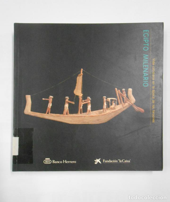 EGIPTO MILENARIO. VIDA COTIDIANA EN LA EPOCA DE LOS FARAONES. - CATALOGO. TDK324 (Libros de Segunda Mano - Historia Antigua)