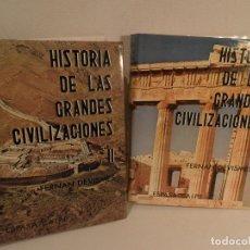 Libros de segunda mano: HISTORIA DE LAS GRANDES CIVILIZACIONES (2 TOMOS OBRA COPLETA) ILUSTRADO CON MAPAS FOTOS DIBUJOS 2ªED. Lote 112753415