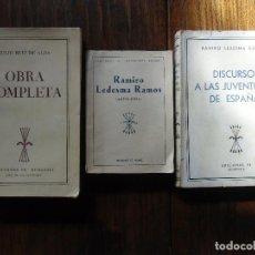 Libros de segunda mano: RAMIRO LEDESMA RAMOS Y JULIO RUÍZ DE ALDA.EDICIONES FE 1939(2) Y 1940.TRES PUBLICACIONES.. Lote 112777819