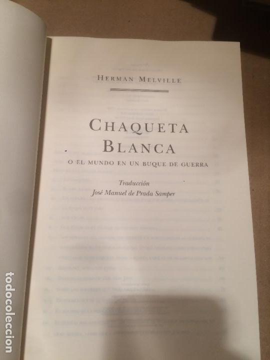 Libros de segunda mano: Antiguo libro chaqueta blanca escrito por Herman Melville año 1998 - Foto 2 - 113215603