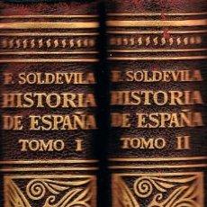 Libros de segunda mano: SOLDEVILLA, HISTORIA DE ESPAÑA, TOMO I Y II, HISTORIA MEDIEVAL, AÑO 1952, 592 PÁGINAS. Lote 114445635