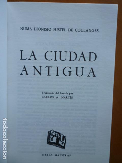 Libros de segunda mano: LA CIUDAD ANTIGUA - Fustel de Coulanges - EDITORIAL IBERIA S.A. 1987 - Foto 2 - 115462199