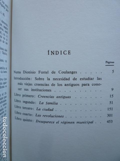Libros de segunda mano: LA CIUDAD ANTIGUA - Fustel de Coulanges - EDITORIAL IBERIA S.A. 1987 - Foto 3 - 115462199