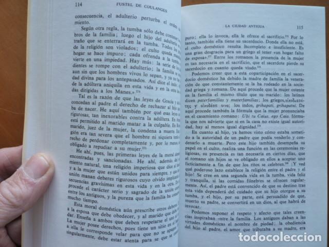 Libros de segunda mano: LA CIUDAD ANTIGUA - Fustel de Coulanges - EDITORIAL IBERIA S.A. 1987 - Foto 4 - 115462199