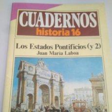 Libros de segunda mano: CUADERNOS HISTORIA 16,NUM 273 LOS ESTADOS PONTIFICIOS. Lote 116703064